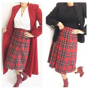 Tartan Plaid Scottish Original Vintage Skirt